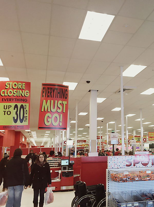 Target Closing by Melanie Ritchie