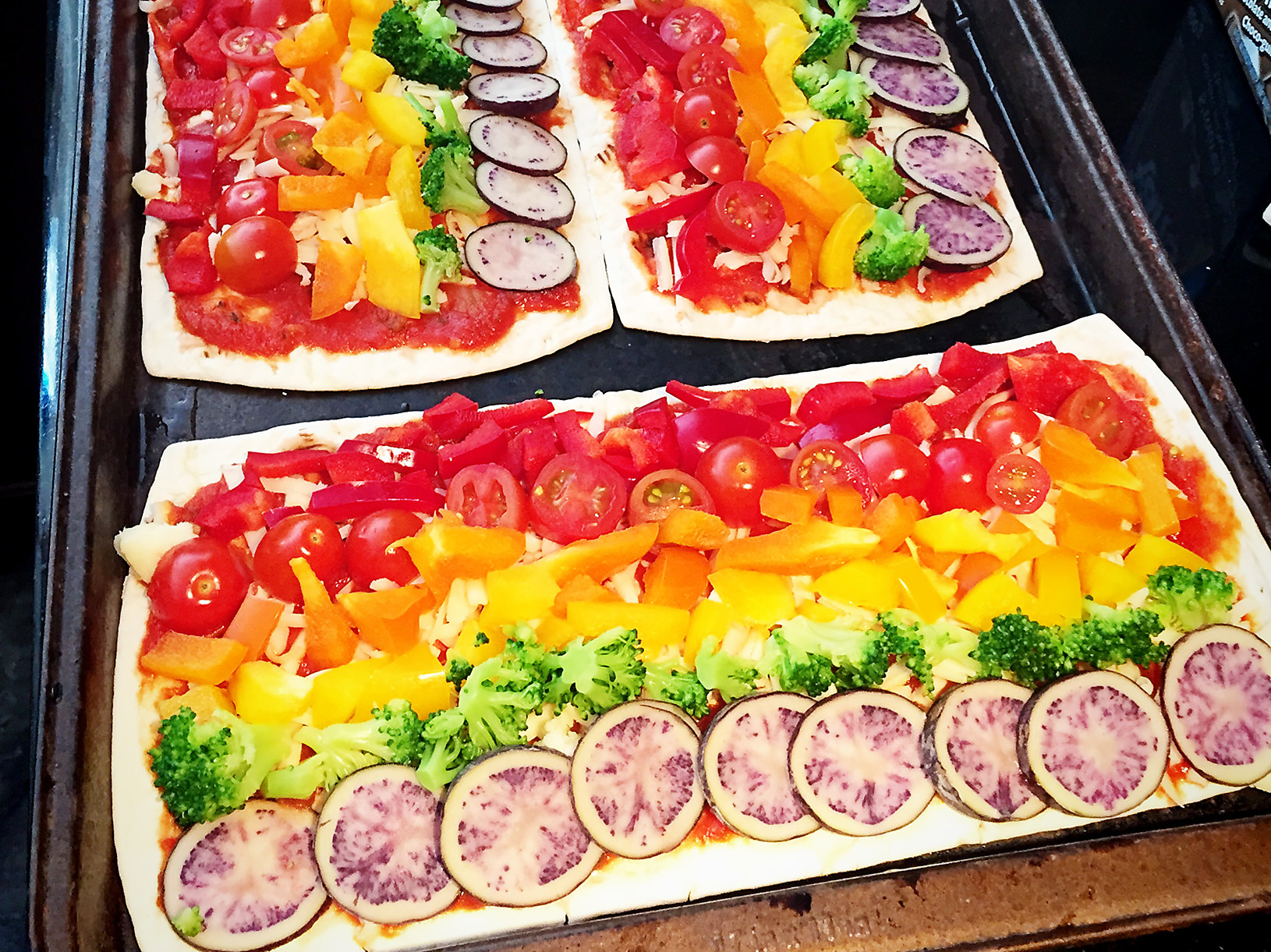 Rainbow Pizza | Melanie Ritchie