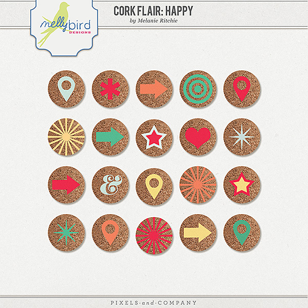 Cork Flair: Happy by Melanie Ritchie