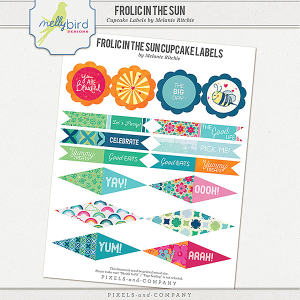 Frolic Cupcake Labels | Melanie Ritchie